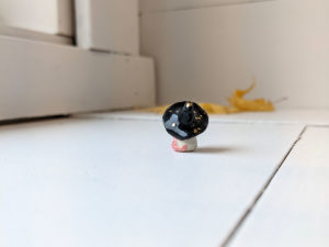 porcelain witch mouse with wand